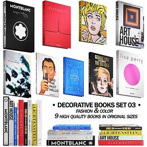 3D 032 Decorative books set 03 fashion 00 model