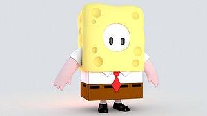 3D model fall guy sponge Bob