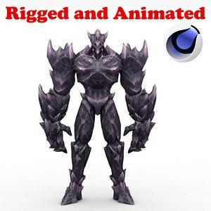 Dark Iceman Rigged and Animated model