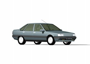 3D french car renault 21 model