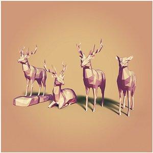 deers cartoon 3D