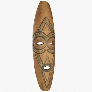 African Mask 06 hy poly 3D model 3D model