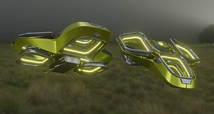 3D drone space quadcopter