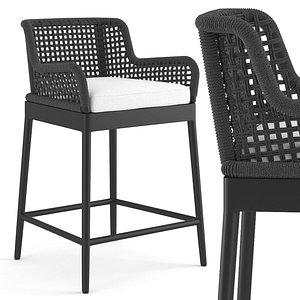 3D outdoor counter stool