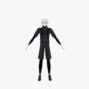 Kaneki Ken from Tokyo Ghoul 3D model