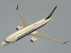 3D Boeing 737-800 Singapore Airlines model