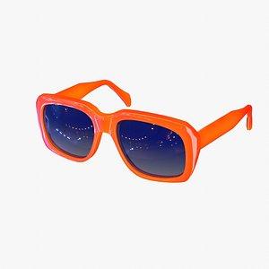 3D sunglasses vintage style