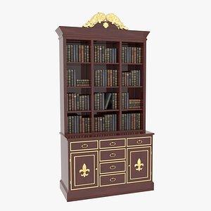 Bookcase Mahogany 3D