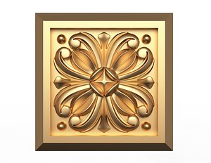 Rosette Carved Decoration CNC 019