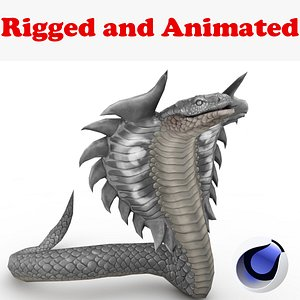 3D Cobra Rigged and Animated