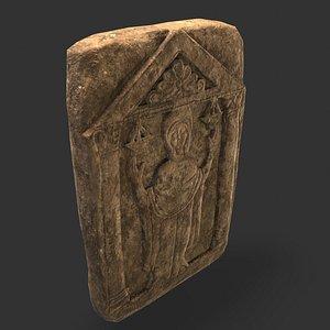 Medieval Grave Stone 3D model