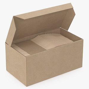 wooden knives box 3D model