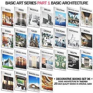3D 047 Decorative books set 06 Basic Art Series PART 01