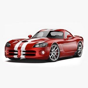 Dodge Viper SRT10 2008 - 2010 3D model