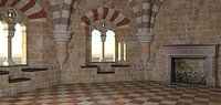 romanesque castle tower room