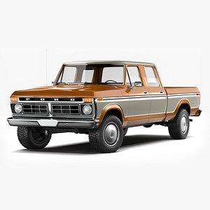 3D Ford F250 Crew Cab 1973 - 1979