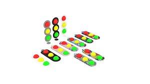 Traffic Lights Simple Dimples Set 3D model