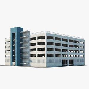 Car parking building 3D model