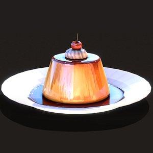 cream caramel model