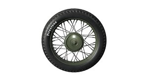motorcycle tire motor 3D model