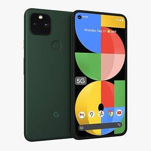 3D Google Pixel 5a Mostly Black