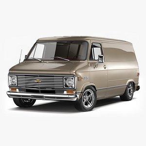 3D Chevrolet G10 Van 1972 - 1977