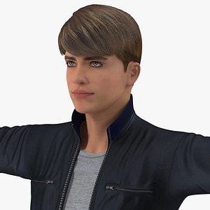Teenage Boy Street Clothes Rigged for Modo model