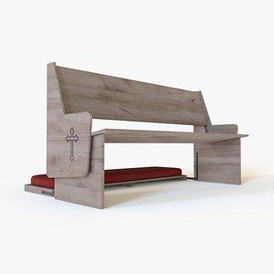 church bench 3D model
