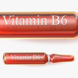 3D b6 2ml amber ampoule