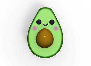 set avocado toys 3D