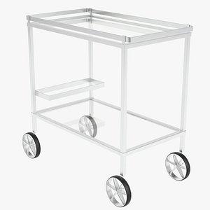 3d food trolley beverage cart