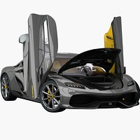 Koenigsegg Gemera 2021 Opening doors and trunks