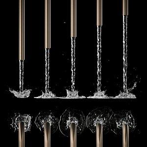 water jets splash 3D model