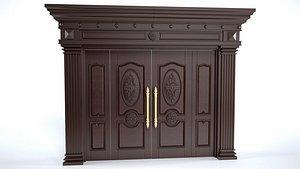 3D Double door 02 model