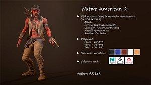 3D Native American 2 model