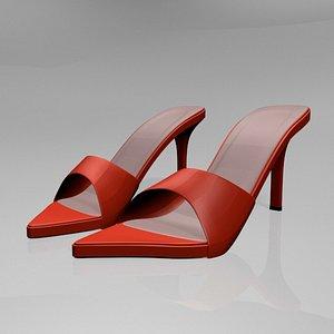 stylish pointy-toe high-heel slide model