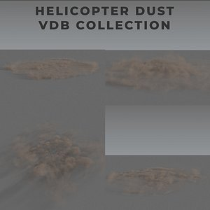 3D Helicopter Dust PACK - VDB