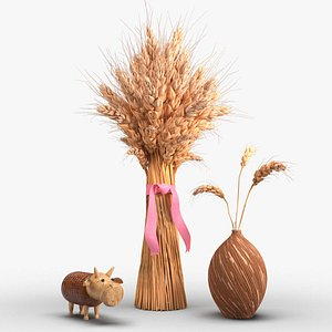 wheat plant crop 3D model