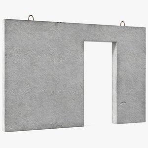 prefabricated precast concrete panel 3D