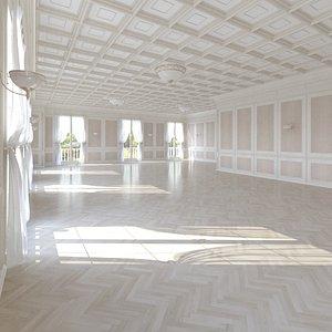 3D model base office interior loft