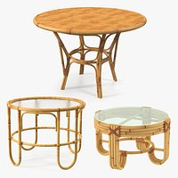 Round Bamboo Tables Collection