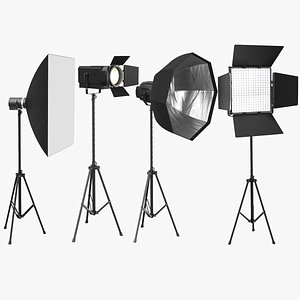 3D model photo real photography lights