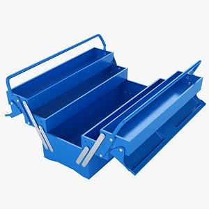 Garage Steel Tool Box Open 02 3D model