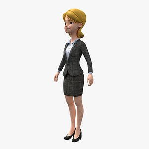 cartoon woman 3D