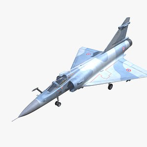 Mirage 2000 Jet Fighter Aircraft Low-poly 3D model 3D
