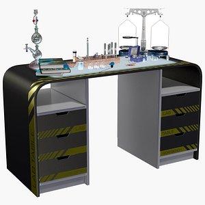 Lab Table Dark 1 3D model