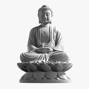 3D statue sitting buddha