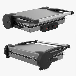 3D Electric tabletop grill close