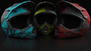 3D model 3 Moto Helmets