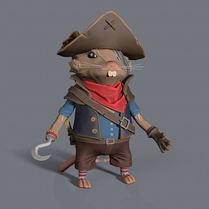 3D mouse pirate